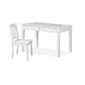 Rose Writing Table (4ft) & Chair_White (1)