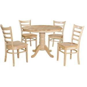 Coco 1050 mm RD Dining Set (1 + 4)_Natural (1)