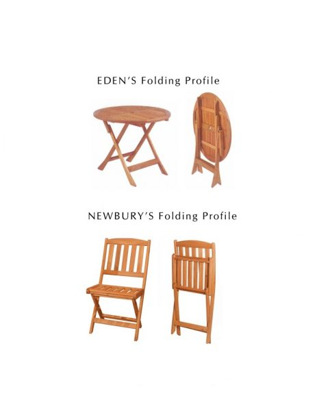 Eden RD Folding Table + Newbury Folding Chair (1)