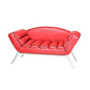 Tom Three-Seat Chaise Lounge_PU Red (1)