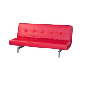 Victoria Three-Seat Sofa-Bed_PU Red (1)