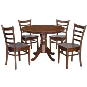 Coco 1050 mm RD Dining Set (1 + 4)_Cappuccino