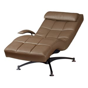 Hawaii Relax Chair_Half Leather Brown