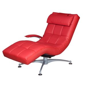 Hawaii Relax Chair_Half Leather Red