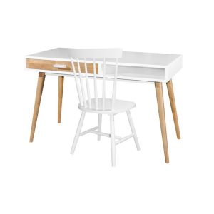 Hollywood Writing Table & Twiggy Chair_White (1)