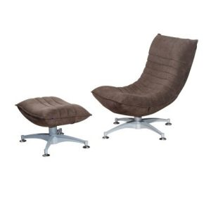 Iris Recliner Relax-Chair With Pouf_Suede Mink (1)