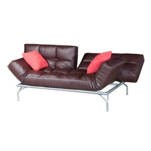 Kyo Mini Alpha Three-Seat Sofa-Bed_PU Brown (1)