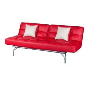 Kyo Mini Alpha Three-Seat Sofa-Bed_PU Red (1)