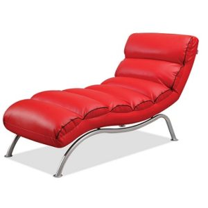 M-Slim Recliner Relax Chair_PU Red