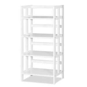 Mates 4 Tier Book Case_White (1)