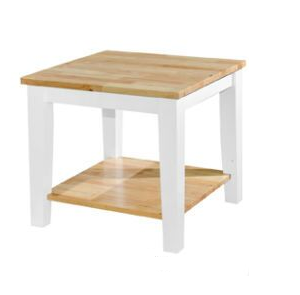 Melody End Table (Natural_White) 1