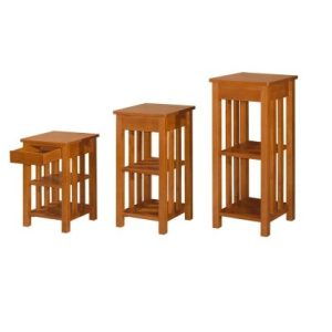 Polo ABC Multi Puspose Rack With Drawer_Oak (1)