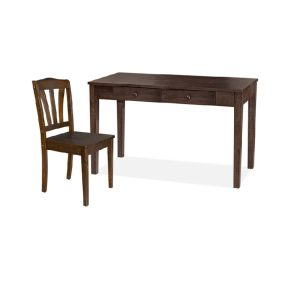 Rose Writing Table (4ft) & Chair_Black (1)