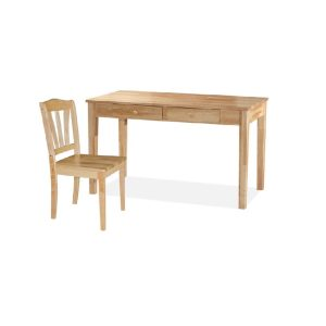 Rose Writing Table (4ft) & Chair_Natural (1)