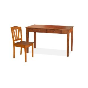Rose Writing Table (4ft) & Chair_Oak (1)
