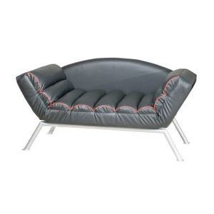 Tom Three-Seat Chaise Lounge_PU Black (1)