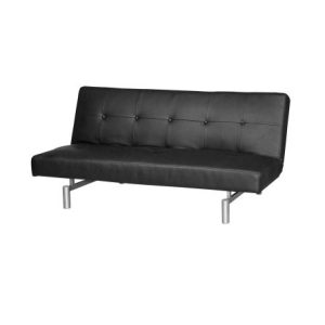 Victoria Three-Seat Sofa-Bed_PU Black (1)