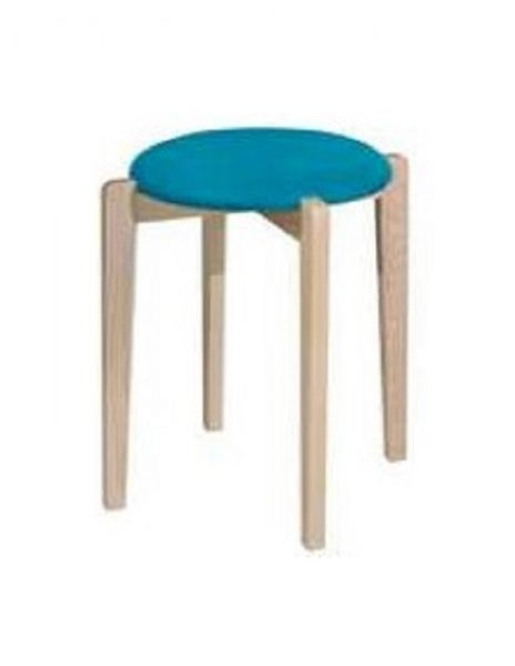 Oska Stool_Natural Aqua Sky