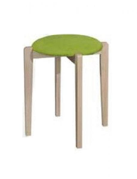 Oska Stool_Natural Green