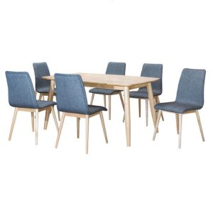 Hay Dining Set (1+6)_FG 6011-13 Grey