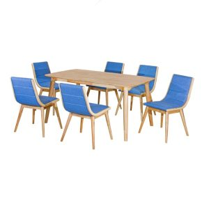 Rainbow Dining Set (1+6) Blue