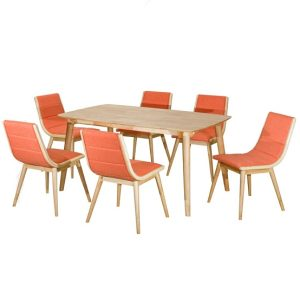Rainbow Dining Set (1+6) Orange_