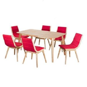 Rainbow Dining Set (1+6) Red_